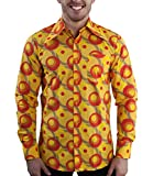 70er Jahre Party Hemd Dots orange XL