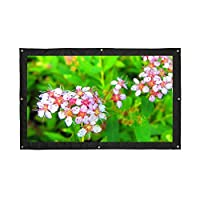 "VGEBY 16:9 Portable 200"" Projector Screen,Rear Projection Screen with Hanging Holes for School and Outdoor Projecting"
