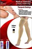 #6: Sira Medical Antiskid Varicose Socks,Grade Ii (23 32 Mm Hg), 5Cm Below Knee Socks, Graduate Pressure To Ankle & Calf Knee, Running,SportsUnisex. (X Large, Beige)