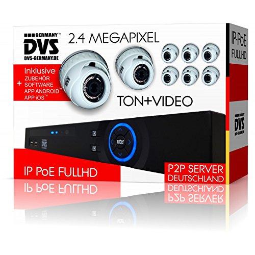 Dvs-Alemania--FullHD-IP-Video-Vigilancia-PoE-berwachungsanlage-con-grabacin-de-sonido--dvlc-de-ipcs8set1o--4000-GB-Disco-Duro