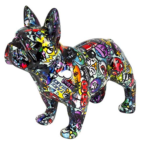 Pomme Pidou Spardose XL Bodhi's Big Jack   Originale e Keramische French Bulldog Hund Grafitti Grosse Spardose   Tokyo Gratis Geschenkbox -