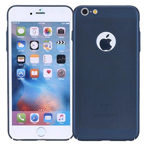 König-Shop Apple iPhone 6s Plus Hülle, Atmungsaktiv Kühlung Mesh Flexibel TPU Anti Fingerabdruck Schutzhülle (Blau)
