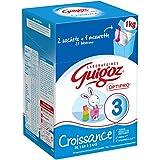 GUIGOZ 3 Croissance - Lait de Croissance en Poudre de 1 à 3 Ans - 2 Sachets de 500g