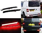 LED-Bremslichter für die hintere Stoßstange, schwarzes Rauchglas, für Transporter T5 Caravelle Multivan 2012-16, 2 Stück