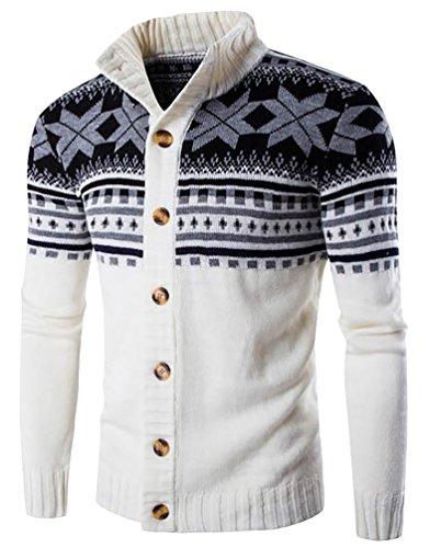 cerui-uomo-casuale-moda-maniche-lunghe-maglione-accollato-cardigan-giacca-bianco-m