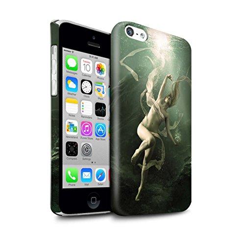 Officiel Elena Dudina Coque / Clipser Brillant Etui pour Apple iPhone 5C / Sonrisas/Dauphin Design / Agua de Vida Collection Sous-Marin