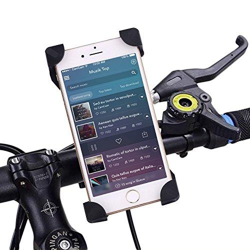 Ronsen Bike Phone Mount   Negro Soportes teléfono móvil Soporte universal para bicicleta y motocicleta para Iphone 7 6S 6 Plus 5s 5c, Galaxy S7 S6 S5 S4 S3, Nota 3 4 5, Nexus, LG, Nokia, HTC Otros Smartphone y GPS