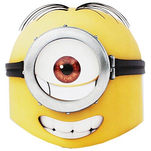 enzprodukt - 2er Set Minions Party Maske, Geburtstag, Kindergeburtstag, Augenmasken - ca. 22 cm (Minion Kostüm Online)