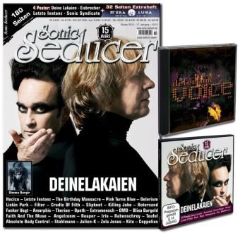 """Sonic Seducer 10-10 mit exkl. 5-Track """"Voice""""-EP von Delerium + M'Era Luna Beilage inkl. 4 Poster v. Eisbrecher, Deine Lakaien, Sonic Syndicate & Letzte Instanz + CD; Titel: Deine Lakaien"""