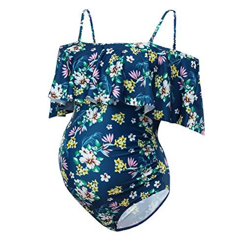 Mutterschaft M&m Kostüm - Unbekannt Frauen Mutterschaft Badeanzug Blumendruck Bikinis Badeanzug Beachwear Schwangere Anzug Kostüm,M