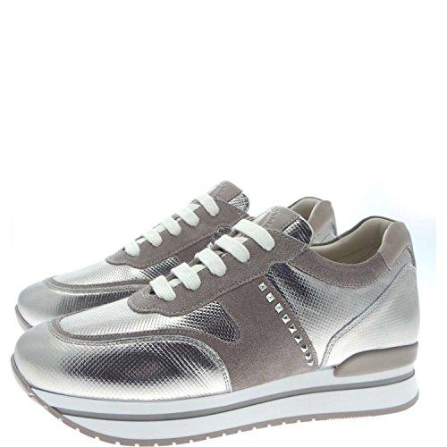 Janet Sport 35726 Sneakers Donna Pelle/camoscio Canna+tortora Canna+tortora 35