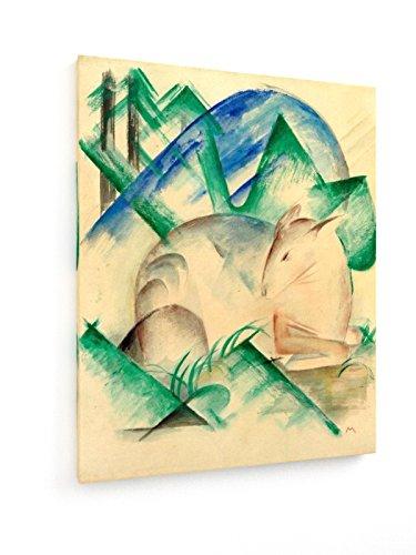 franz-marc-red-deer-1913-60x75-cm-weewado-impresiones-sobre-lienzo-muro-de-arte
