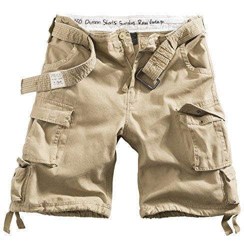 DELTA Division Vintage Herren Cargo Shorts Oversize, beige, Größe 6XL