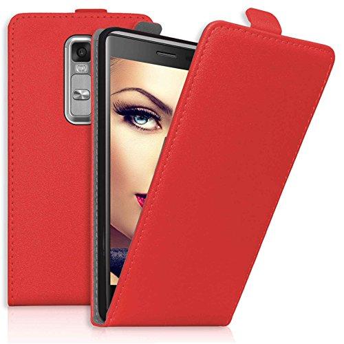 mtb more energy® Flip-Case Tasche für LG Class | LG Zero (H650, 5.0'') | Rot | Kunstleder | Schutz-Tasche Cover Hülle
