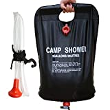 Ailiebhaus Portable 20L PVC Outdoor Camping Solarenergie Shower Bag Solardusche