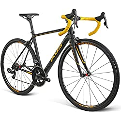 Road Bike RT800 Special Ultralight Carbon Fiber Road Competition Wireless Wireless Speed Change Racing Bike From 22 Speeds, Gold-700C * 25C