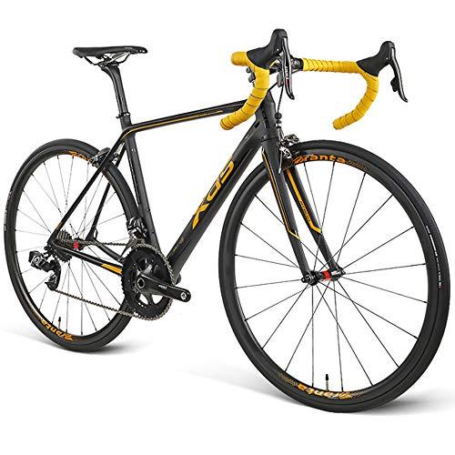 Bicicleta De Carretera RT800 Competición De Carretera De Fibra De Carbono Ultraligera Especial Bicicleta De Carreras De Velocidad De Cambio Inalámbrico Inalámbrico De 22 Velocidades,Gold-700C*25C