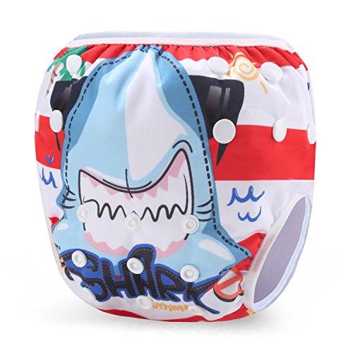 Storeofbaby Pañal de baño reutilizable para niños y niñas Pantalón de baño para nadadores pequeños...