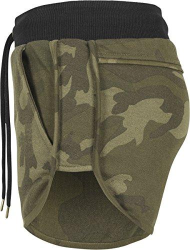 Urban Classics Damen Shorts Ladies Camo Hotpants Mehrfarbig (Olive Camo/Black 1059)