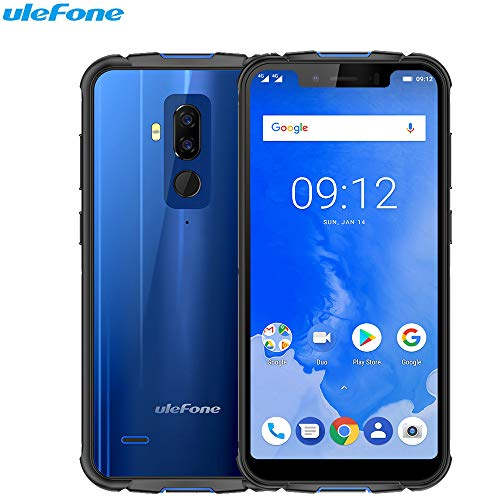 Ulefone Armor 5 - IP68 Waterproof Shock Resistant Outdoor: Face Tracking ID 2.0GHz Octa Core Smartphones 5.85 HD 4GB + 64GB 5000mAh Android 8.1 Blue