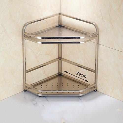 ILQ Edelstahl-Küchen-Regal-Wand-Ecken-Gewürz-Aroma-Stativ-Küche liefert Lagerregal,29 cm