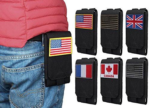 Xhorizon TM FM8 Universal Armee Handytasche Zubehör Beutel Case für iPhone 7 / iPhone 7 Plus Gürteltasche mit Kanada Flagge Taktisch Velcro #A