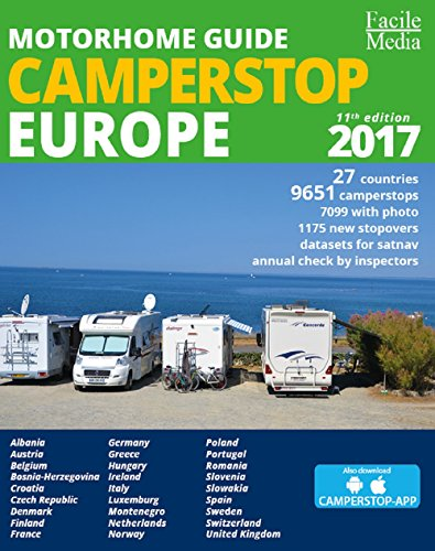 Used, Motorhome guide Camperstop Europe 27 countries. 2017 for sale  Delivered anywhere in UK