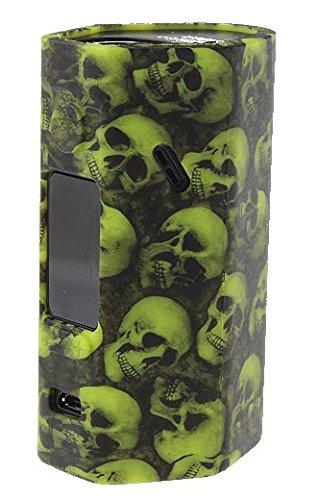 DIY-24H - 2x Schutzhülle für Wismec Reuleaux RX 2/3 Akkuträger Skull Totenkopf Silikon Skin Hülle (Grün)