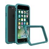 RhinoShield Coque pour iPhone 8 Plus / iPhone 7 Plus [Bumper CrashGuard] | Technologie absorption des chocs - Compatible recharge induction [Résiste aux chutes de plus de 3,5 mètres] - Bleu Sarcelle