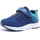 Hallenschuhe Kinder Turnschuhe Jungen Sport Schuhe Mädchen Kinderschuhe Sneaker Outdoor Laufschuhe für Unisex-Kinder Blau,31 EU=32 CN