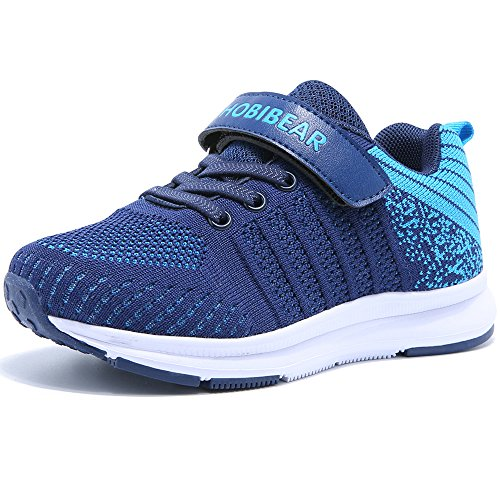 Hallenschuhe Kinder Turnschuhe Jungen Sport Schuhe Mädchen Kinderschuhe Sneaker Outdoor Laufschuhe für Unisex-Kinder Blau,28 EU=29 CN