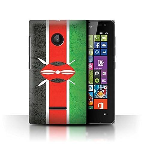 Coque de Stuff4 / Coque pour Microsoft Lumia 532 / Kenya/Kenyan Design / Drapeau Africain Collection