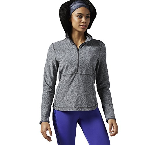 reebok-womens-workout-ready-long-sleeve-1-2-zip-top-dgh-solid-grey-small