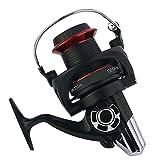 Gimitunus Spinning Angelrolle mit Double Drag Brake System Baitrunner Rolle 14 + 1 Lager Links Rechts auswechselbar Griff für Salzwasser Süßwasserfischen (Größe : 9000)