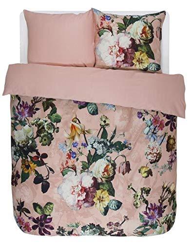 ESSENZA Bettwäsche Fleur Baumwollsatin Rosa, 135x200 + 1 X 80x80 cm