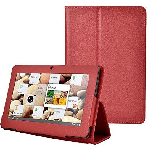 samLIKE Folio Ständer 7 Zoll Tablet Hülle für Zeepad,Chromo,Alldaymall,Matricom (rot)