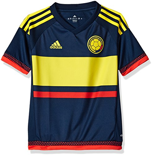 a18292527d648 adidas Soccer Youth Colombia jersey, Large, Collegiate Navy/Lemon Peel