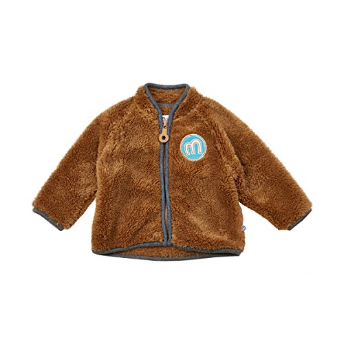 Minymo Baby Boy Fleecejacke Gul 58 Jacket Coral fleece braun 74