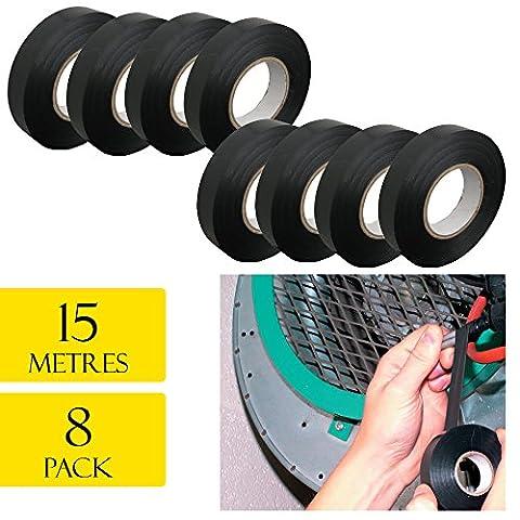 Isolation électrique en PVC robuste Sticky 15metres 8rouleaux de ruban adhésif