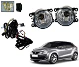 Auto Pearl Fog Lamp with Wiring Kit and Switch for Maruti Suzuki Baleno (Set of 2, Black)