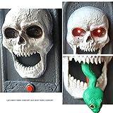 Halloween Porte Décorations Spooky Crâne Sonnette Avec Light Up Eyeball et Effrayant Sons Halloween Décoration De Fête De Vacances Décoration Diable Maison Hantée Décor Accessoires Props Jouet cadeau