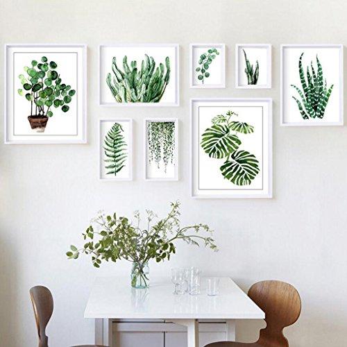 Ein Mann Stehen Baum (CJH Foto Wand Dekoration Moderne Einfache Bilderrahmen Wand Wohnzimmer Schlafzimmer Kreative Kombination Rahmen Kleine Frische Fotowand ( Color : Plant ))