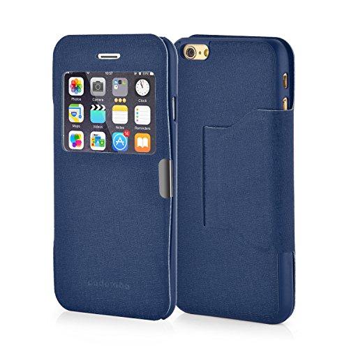 Cadorabo ! Coque Gel transparent - (Slim 0,5mm) pour Apple Iphone 6 - (4.7 pouces) Blanc Iphone 6 S-View brun