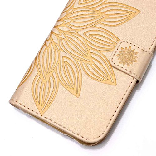 Mo-Beauty, Borsa a spalla donna Gold,Skull Samsung Galaxy S6 Edge Gold,Flower