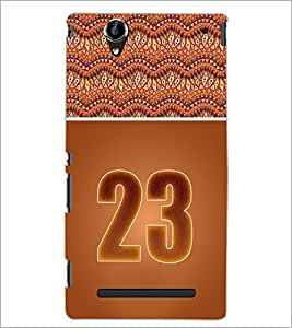 PrintDhaba Numerology Number 23 D-3658 Back Case Cover for SONY XPERIA T2 ULTRA (Multi-Coloured)