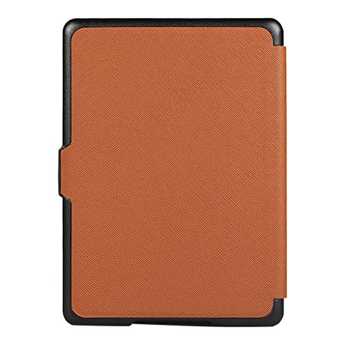 Fcostume Ultra Slim Smart Leather Magnetic Case para Amazon Kindle Paperwhite 4 2018, marrón