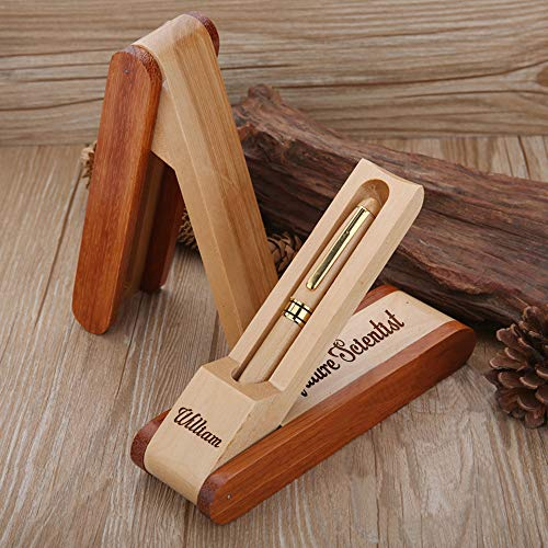 EDSG Personalised Pen   Engraved Natural Wooden Ballpoint Pen with Gift Box   Custom Bespoke Laser Engraved, Gift for Merry Christmas,Teacher,Birthday Hand Finished in UK