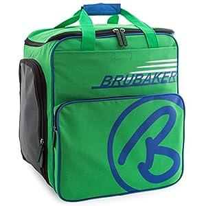 Brubaker Skischuhtasche Helmtasche Skischuhrucksack Super Champion Grün Blau – Limited Edition –