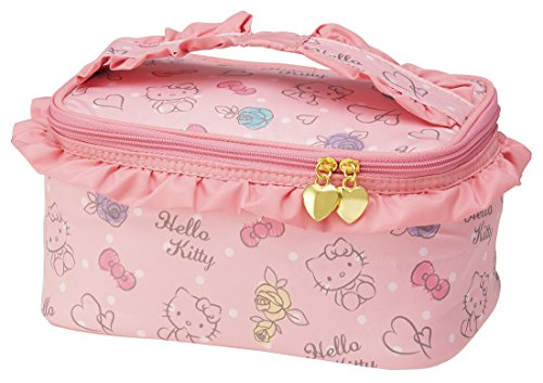 Skater Fluffy Vanity Pouch Hello Kitty Pouch Purse Sanrio Kbnf1