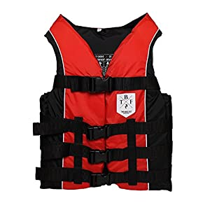 51P%2BpbCnKXL. SS300  - 50N Buoyancy Jacket Adults Unisex Floatation Aid (Red, M)